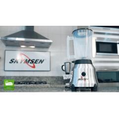LIQUIDIFICADOR SKYMSEN LT-1.5 COPO DE PLASTICO GABINETE EM AÇO INOX ROTAÇAO DE 1.800RPM MOTOR DE 900W 220V .